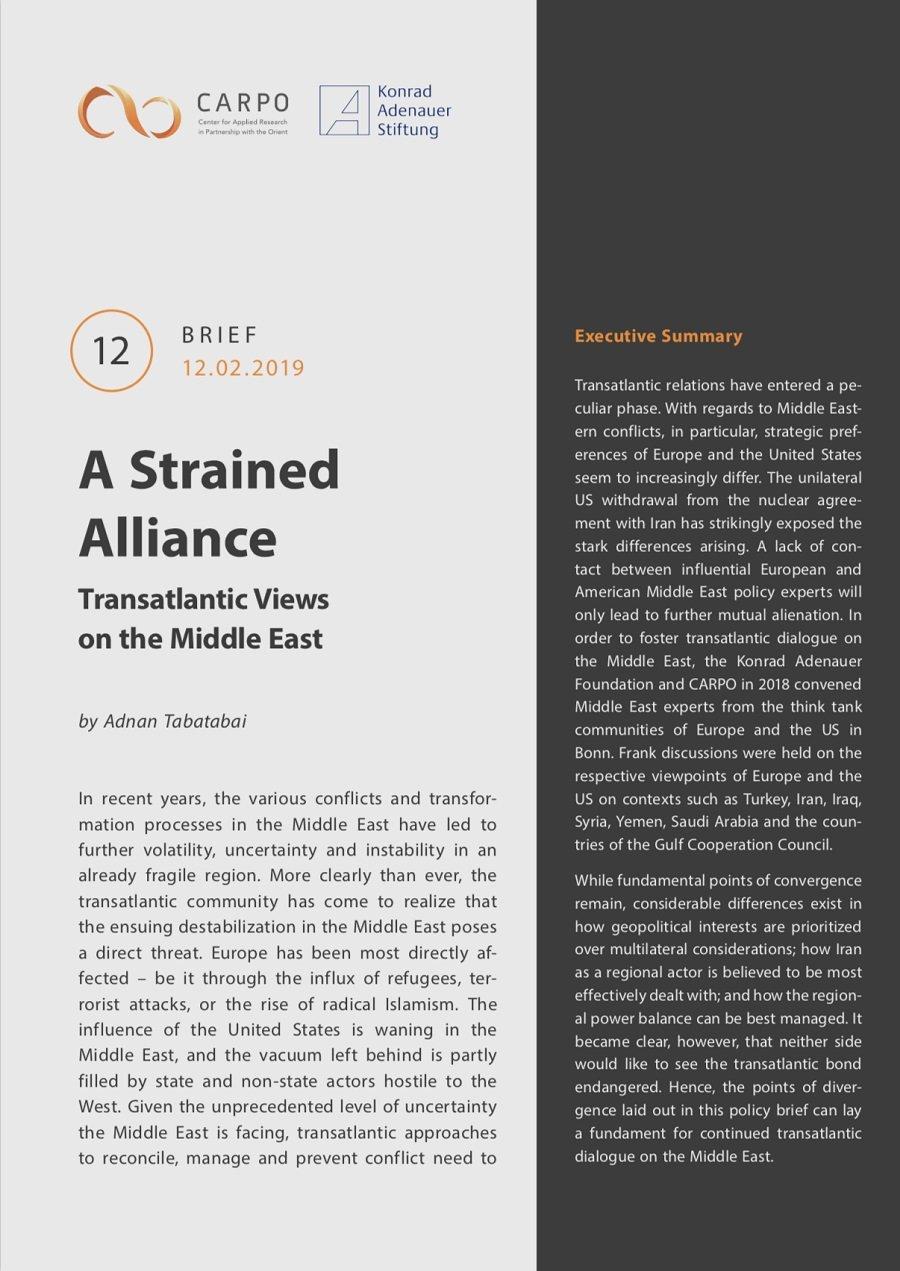 CARPO Brief 12: A Strained Alliance