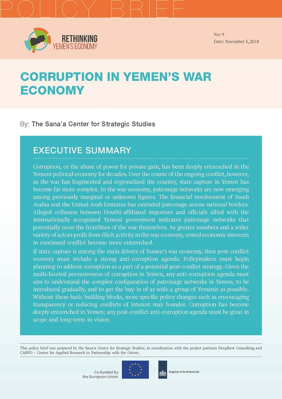 Corruption in Yemen's War Economy
