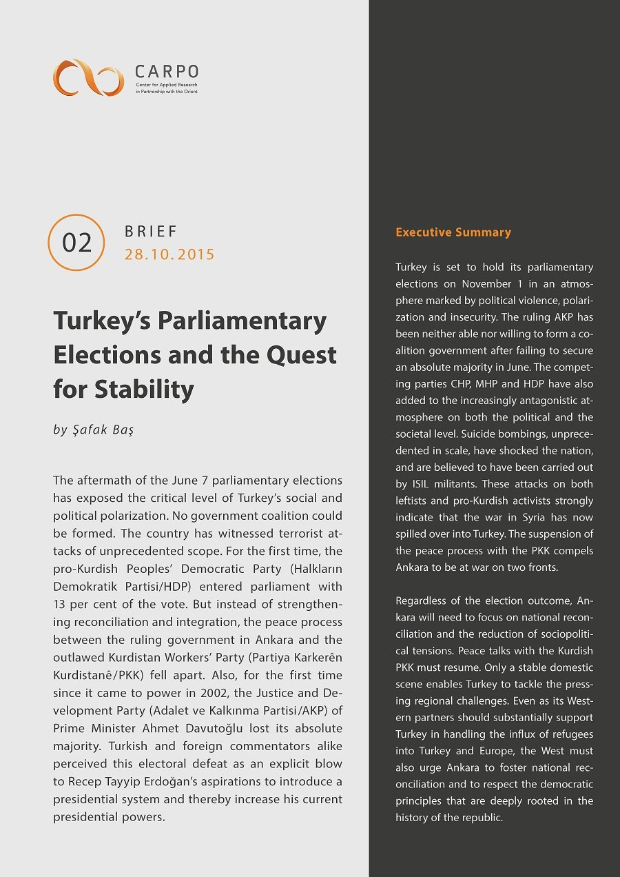 Turkey's Parliamentary Elections and the Quest for Stability