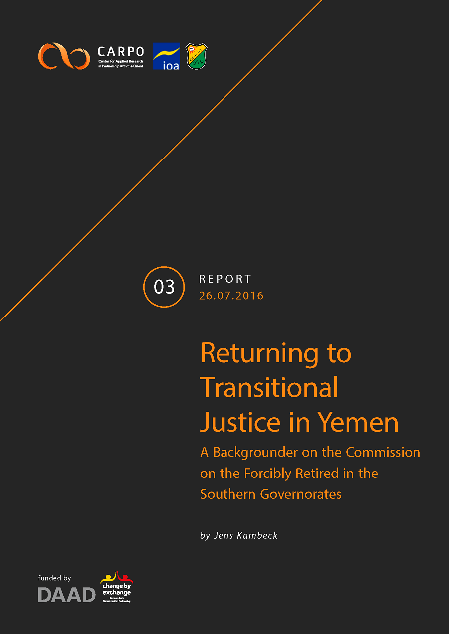 Returning to Transitional Justice in Yemen. A Backgrounder on the Commission on the Forcibly Retired in the Southern Governorates