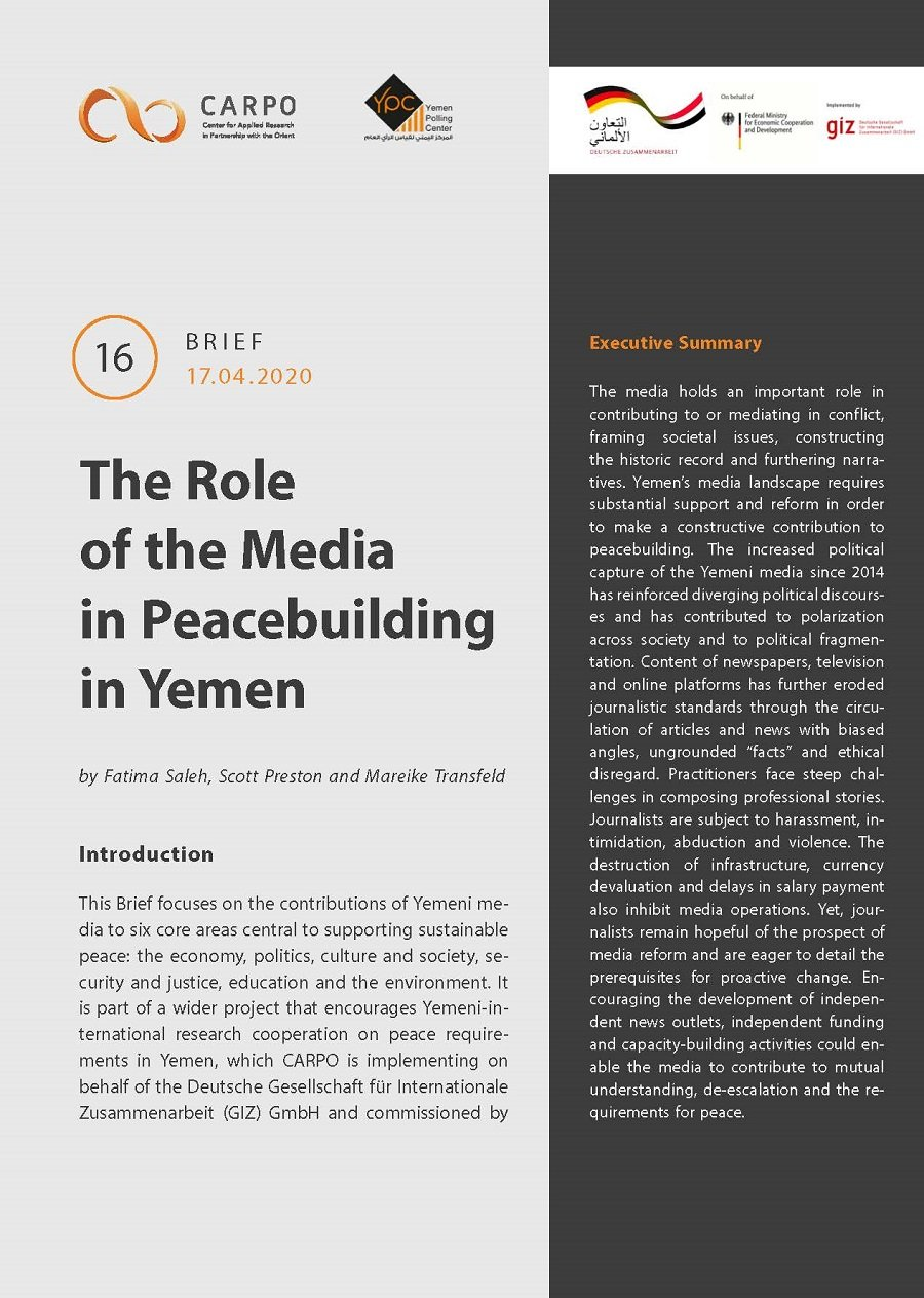 The Role of the Media in Peacebuilding in Yemen