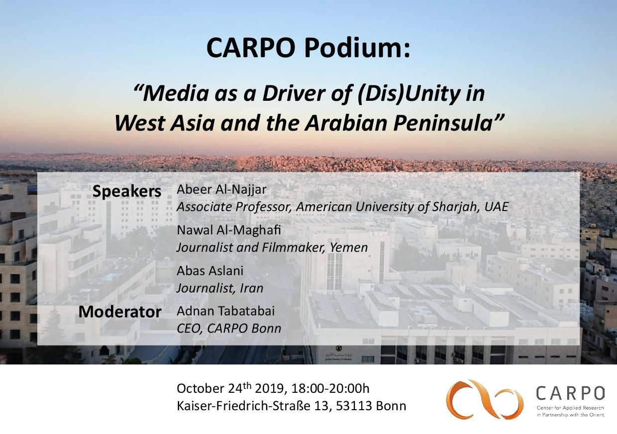 Media as a Driver of (Dis)Unity in West Asia and the Arabian Peninsula