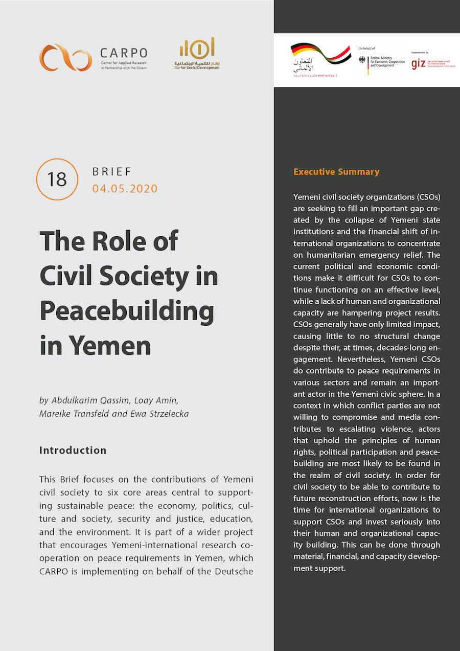 The Role of Civil Society in Peacebuilding in Yemen