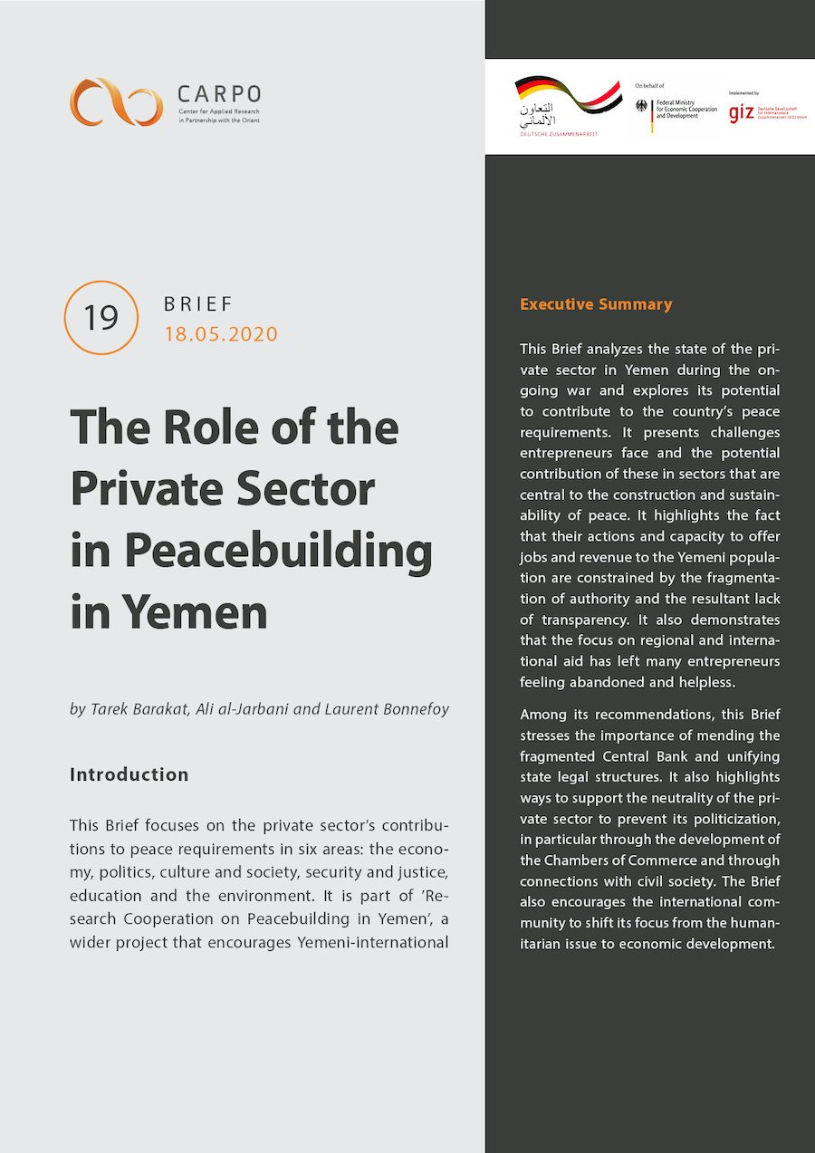 The Role of the Private Sector in Peacebuilding in Yemen