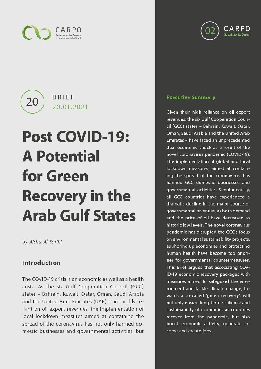 Post COVID-19: A Potential for Green Recovery in the Arab Gulf States